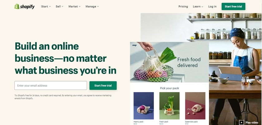 Shopify Home